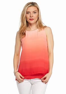 New Directions Petite Sleeveless Ombre Blouse