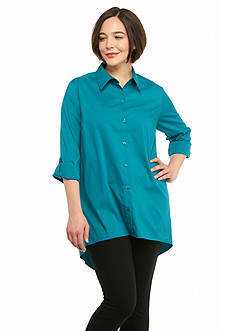 New Directions Plus Size Boyfriend Shirt