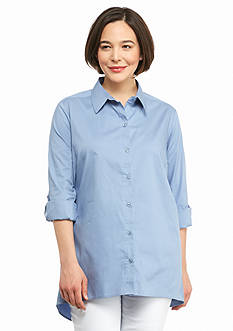 New Directions Plus Size Boyfriend Shirt