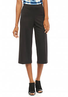 New Directions Ponte Wide Leg Crop Pants