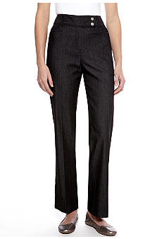 New Directions Double Snap Denim Pant