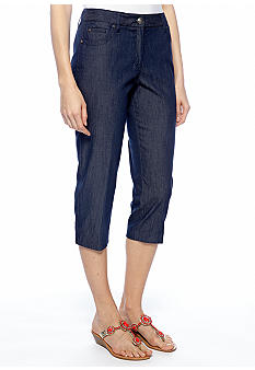 New Directions Slim Jean Crop Pant