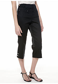 New Directions Slim Leg Twill Crop Pant