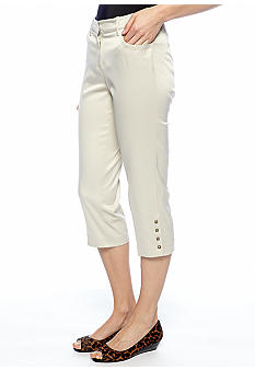 New Directions Stud Trim Crop Pant