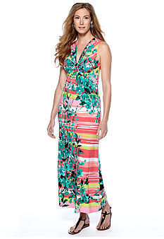 New Directions Printed Maxi Dress