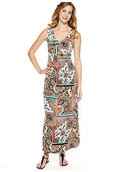New Directions Paisley Maxi Dress