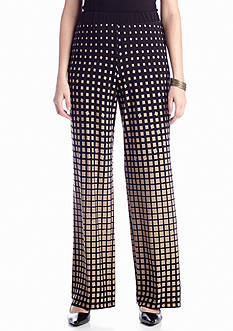 New Directions® Square Print Palazzo Pant