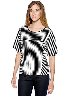New Directions Multi Striped Tee