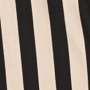 Tunic Tops: Stone Mixpath New Directions Mixed Striped Hanky Hem Tunic Top