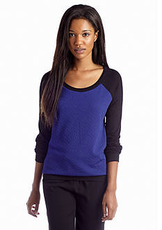 New Directions® Textured Raglan Sweatshirt