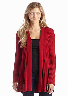 New Directions® Solid Ribbed Cardigan