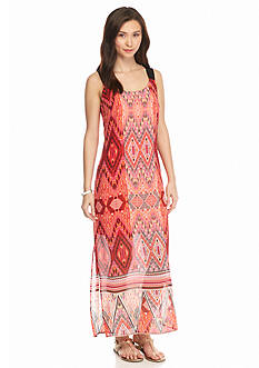 New Directions Petite Woven Printed Maxi Dress