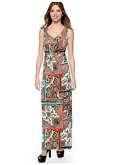 New Directions Petite Paisley Print Maxi Dress