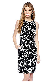 New Directions Petite Printed Sheath Dress