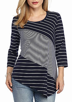 New Directions Petite Asymmetrical Hem Top