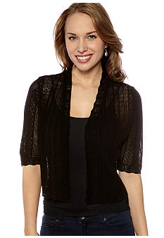 New Directions Petite Elbow Sleeve Shrug