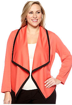 New Directions Plus Size Color Block Jacket