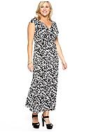 New Directions® Plus Size Cummerbund Maxi Dress