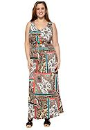 New Directions® Plus Size Paisley Print Maxi Dress