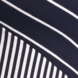 New Directionsâ Women's Plus Sale: Navy Awning New Directions Plus Size Pieced Stripe Top