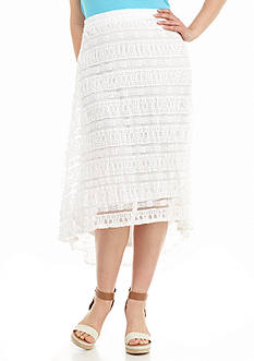 New Directions Plus Size Lace Skirt