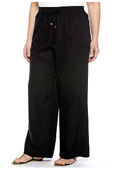 New Directions Plus Size Wide Leg Pant