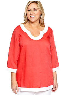 New Directions Plus Size Linen Tunic