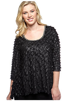 New Directions® Plus Size Pearl Trim Sharkbite