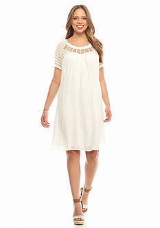 New Directions Plus Size Crochet Sleeve Dress