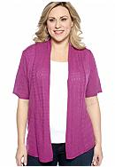 New Directions® Plus Size Pointelle Cardigan