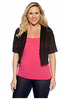 New Directions Printed Top with Stud Details
