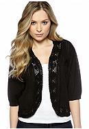 New Directions® Plus Size Pointelle Shrug