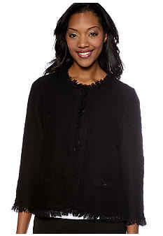 Kim Rogers Three Quarter Fringe Sweater Jacket