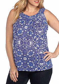 Kim Rogers Plus Size Rope Neck Cleo Tank