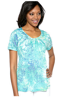 Kim Rogers Burnout Tee with Cami