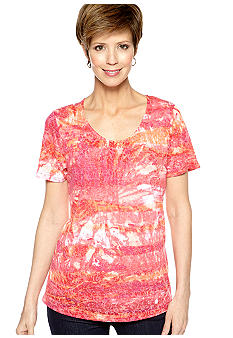 Kim Rogers Starburst Burnout Tee with Cami