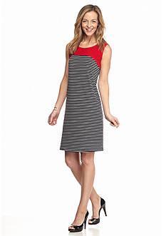 Kim Rogers Striped Swing Dress