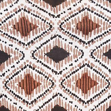 Kim Rogers Plus Size Clothing: Neutral Combo Kim Rogers Petite Pucker Neck Malawi Printed Top