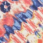 Kim Rogers Petites Sale: Coral Combo Kim Rogers Petite Printed Keyhole Neck Top