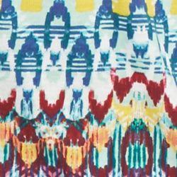 St. Patricks Day Womens Clothing: Multi Combo Kim Rogers Plus Size Chevron Print Lace Bib Knit Top