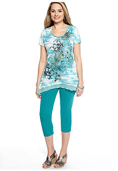 New Directions Tunic and Legging in Peacock
