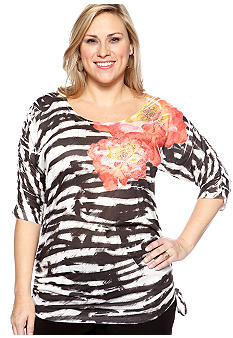 New Directions® Plus Size Printed Tee