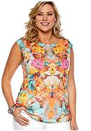 New Directions® Plus Size Floral Print Tank