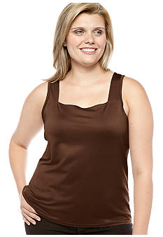 New Directions Plus Size Square Neck Camisole