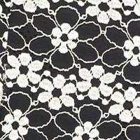 Petite Casual Dresses: Black SML February Soft Pants Petite Lace Floral Dress