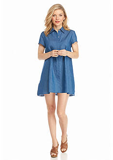 New Directions Petite Chambray Dress