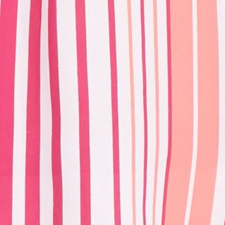New Directions Petites Sale: Pink New Directions Petite Vertical Stripe Crepe Top