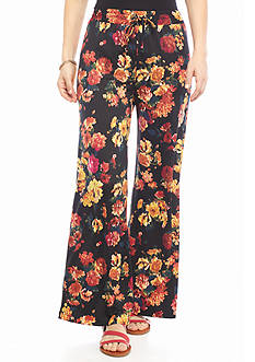 New Directions Petite Floral Print Soft Pants