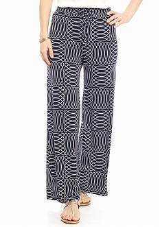 New Directions Petite Geo Print Soft Pants