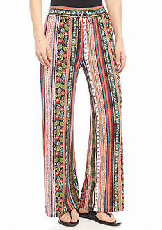 New Directions Petite Vertical Mixed Print Soft Pants